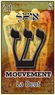 shin est une carte du tarot hebraique qui represent une dent mais aussi le mouvement