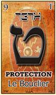 teth encore une tres belle carte du tarot hebraique
