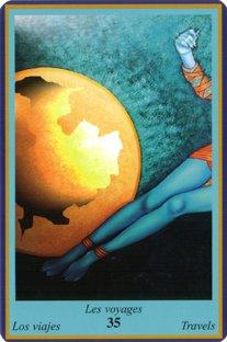 Tirage de l'oracle bleu Voyages